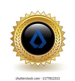 Lisk Cryptocurrency Coin Gold Badge Medal Award