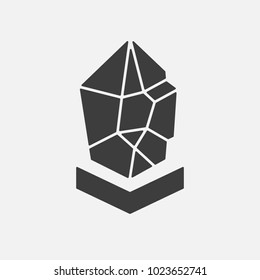 Lisk LSK vector adapted icon. Cryptocurrency, e-currency, payment crypto currency, blockchain, logo button. Flat minimalist adaptation design web site mobile app EPS. Isolated on white background