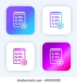List bright purple and blue gradient app icon