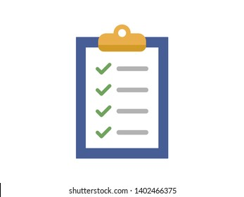 List with check marks color flat icon