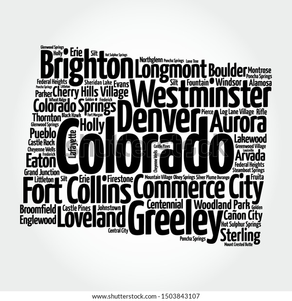 List Cities Colorado Usa State Map Stock Vector (Royalty ... on wilmot map, lafayette map, taizhou city map, e-470 map, otis map, retreat map, lochbuie map, saddle mountain map, commerce city co map, downcity providence map, riverside township map, new ipswich map, cherry hills village map, ophir map, glencoe map, sloan's lake map, northglenn colorado map, patterson map, arvada map, elizabeth map,
