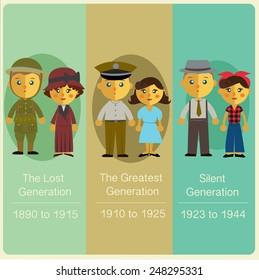 List of generations,The Lost Generation,The Greatest Generation,The Silent Generation.