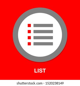 List icon - Content view options, list symbol - options sign