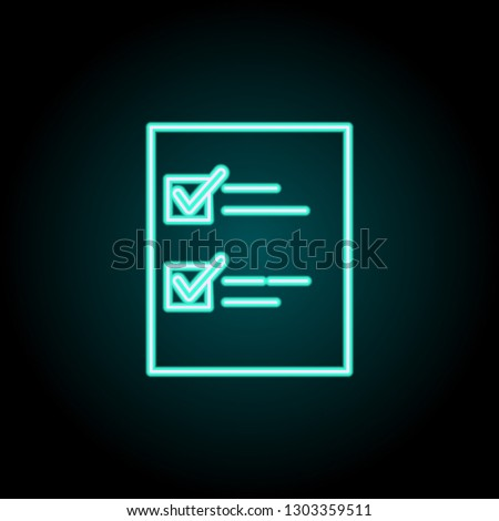 List Icon Elements Logistics Neon Style Stock Vector (Royalty Free