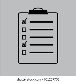 list  icon, questionnaire vector illustration