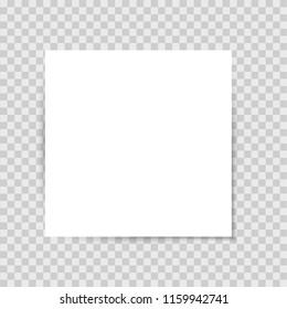 List sticker with shadow