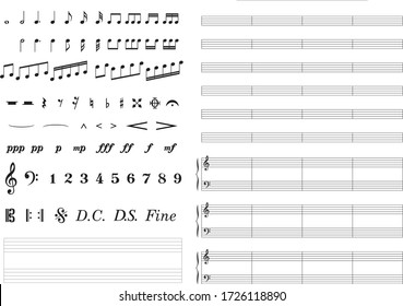 List of various music symbols