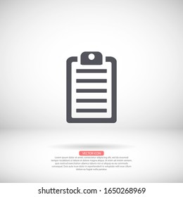 List vector icon , lorem ipsum Flat design