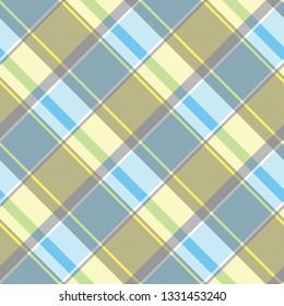 Lite color check plaid pixel seamless pattern. Vector illustration.
