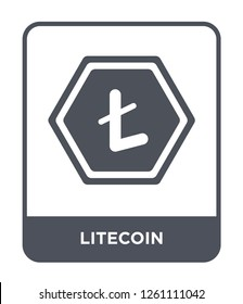 litecoin icon vector on white background, litecoin trendy filled icons from Cryptocurrency economy and finance collection, litecoin simple element illustration