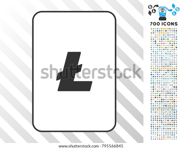 Litecoin Playing Card Icon 7 Hundred Stock Vector Royalty Free 795566845