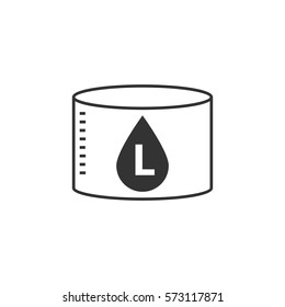 Liter icon - vector illustration.