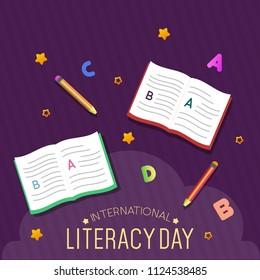 Literacy Day Illustration