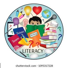 Literacy education icon