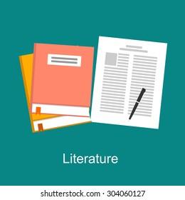 Literature illustration concept. Flat design.