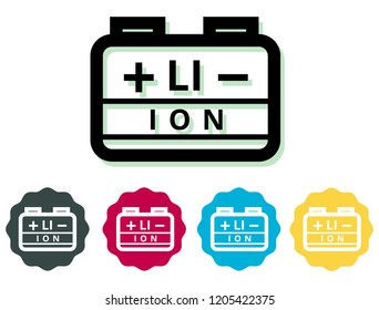 Lithium Ion Battery Icon - Illustration as EPS 10 File