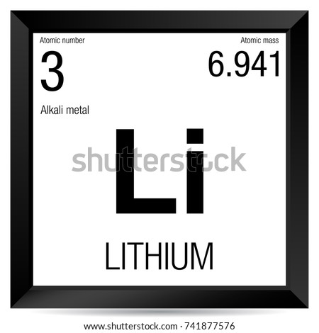Lithium Symbol Element Number 3 Periodic Stock Vector Royalty Free
