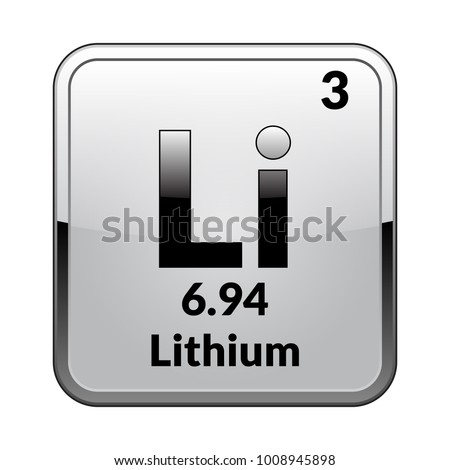 Lithium Symbol Chemical Element Periodic Table On Stock Vector