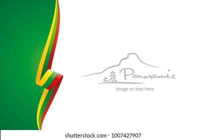 Lithuania abstract brochure cover poster background vector