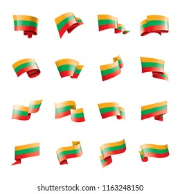 Lithuania flag, vector illustration on a white background