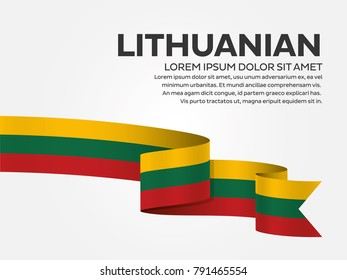 Lithuanian flag background