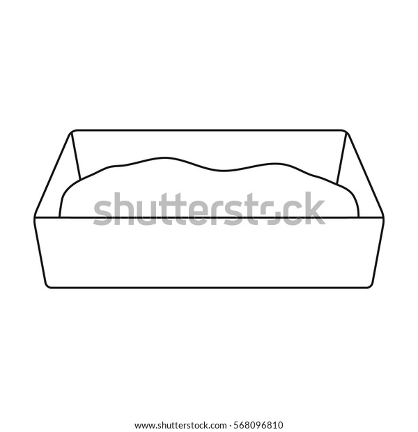 Litter box icon of vector illustration for web and mobile