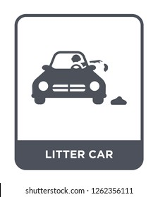 litter car icon vector on white background, litter car trendy filled icons from Transportation collection, litter car simple element illustration