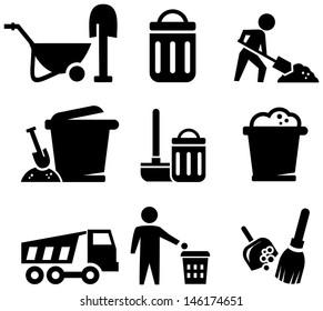 Litter symbols icons
