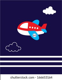 Similar Images Stock Photos Vectors Of Cartoon Plane In Blue Sky Illustration Illustration Of Cartoon Plane In Blue Sky Fly Air Transportation Cartoon Plane And Aviation Drawing Toy Wing Cute Airplane