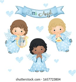 Little Angel Blue Collection Vector