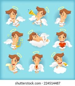 Little angel cartoon illustrations