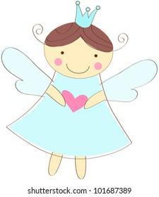 little angel greeting card