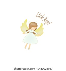 Little angel icon on a white background, vector