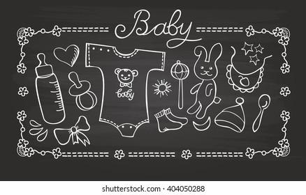 little baby chalk doodle