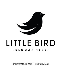 Little Bird Social Logo Design Inspiration Vector