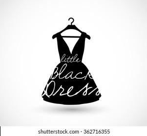 Little black dress on a hanger icon vector