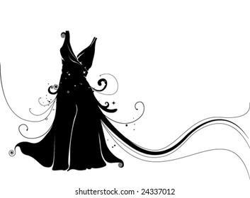 Little Black Dress - Vector