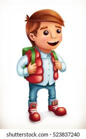 Little boy. Family. 3d vector icon