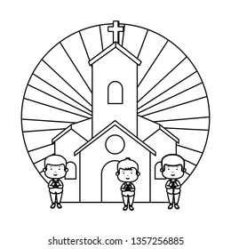 little boys in church first communion characters