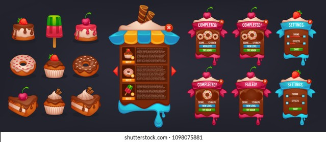 Little Cakes Shop, all for your mobile game interface