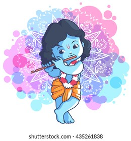 Little Krishna Images Stock Photos Vectors Shutterstock