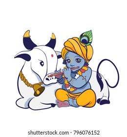 Child Krishna Images Stock Photos Vectors Shutterstock
