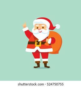 Little cartoon Santa Claus