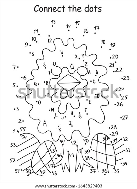 This is an image of Free Printable Dot to Dot Puzzles in alphabet