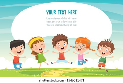 Little Children Having Fun Together