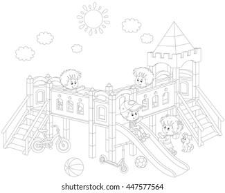 little children on a playground