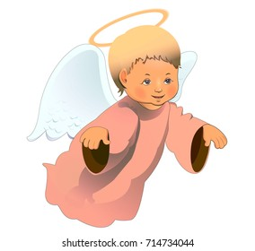 little cute angel. character. vector