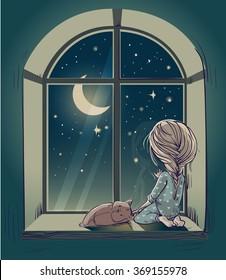 Sad Girl Cartoon Images Stock Photos Vectors Shutterstock
