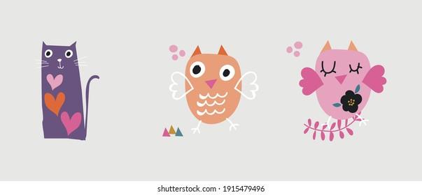 little cute patterns for kids vector design