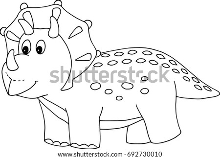 opinion album dinosaur coloring pages | Little Dino Triceratops Cute Cartoon Character 스톡 벡터(사용료 ...